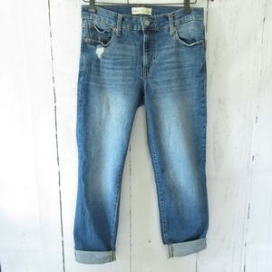 Gap Real Straight Jeans Medium Distressed Ankle